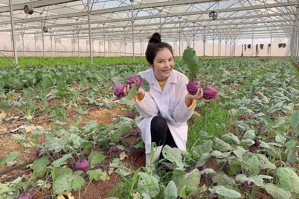 Lý Nhã Kỳ thu hoạch trái cây, hoa và rau củ trong khu vườn 50 ha ở Đà Lạt-3