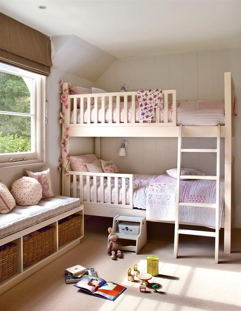 Nhà có diện tích hạn chế làm sao để thiết kế phòng cho 2 con mà vẫn đảm bảo đẹp mê lại cực gọn gàng và khoa học?-13