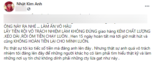 Khổ sở giành quyền nuôi con, Nhật Kim Anh lại bị 1 công ty xây dựng lừa đảo rồi ôm tiền bỏ trốn?-1