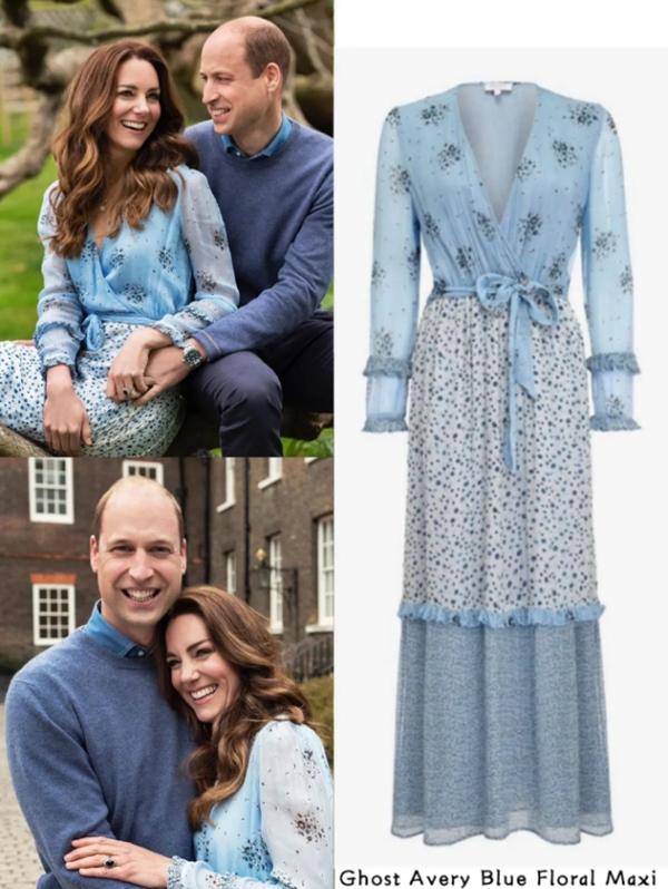 Công nương Kate mặc váy cũ chụp ảnh kỷ niệm 10 năm ngày cưới, nhưng đây là bộ váy nhìn chán nhất tủ đồ của cô-3