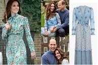 Công nương Kate mặc váy cũ chụp ảnh kỷ niệm 10 năm ngày cưới, nhưng đây là bộ váy nhìn 'chán' nhất tủ đồ của cô