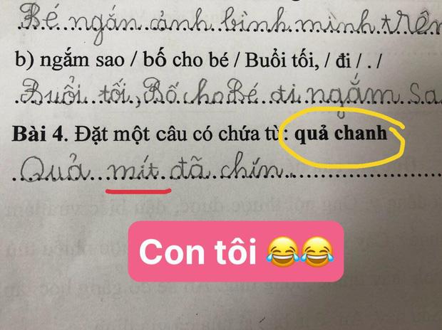 Bài tập tiếng Việt yêu cầu viết 1 câu, cậu nhóc chỉ trả lời 1 từ duy nhất khiến dân tình ôm bụng cười, cô giáo bó tay vì không thể bắt lỗi-4