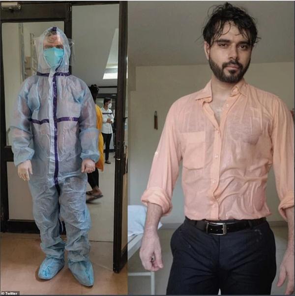 Bác sĩ Ấn Độ trong tâm bão Covid-19 đăng bức hình gây chấn động mạng xã hội-1