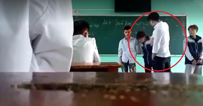 Clip gây bức xúc: Thầy giáo đá thẳng vào ngực, tát học sinh tới tấp và nói tục liên hồi vì các em mặc quần bò, nhuộm tóc-2