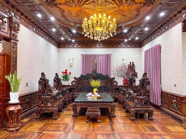 Biệt thự bề thế của gia đình 9X Bắc Ninh: Diện tích 400m2 với 4 tầng, nội thất tinh xảo toàn gỗ nguyên khối nhập từ Lào-5