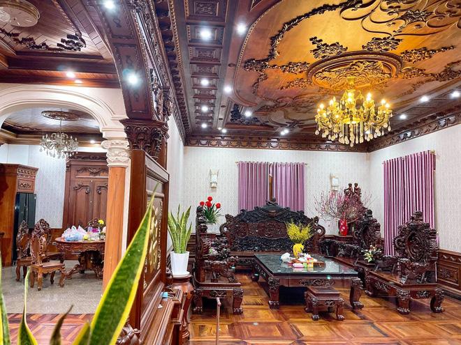 Biệt thự bề thế của gia đình 9X Bắc Ninh: Diện tích 400m2 với 4 tầng, nội thất tinh xảo toàn gỗ nguyên khối nhập từ Lào-8