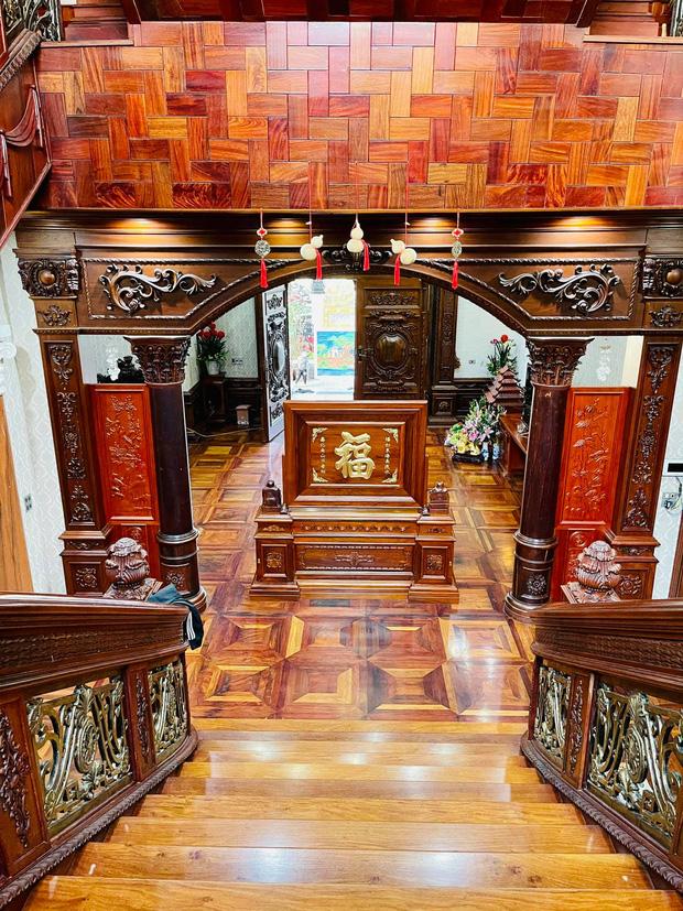 Biệt thự bề thế của gia đình 9X Bắc Ninh: Diện tích 400m2 với 4 tầng, nội thất tinh xảo toàn gỗ nguyên khối nhập từ Lào-12