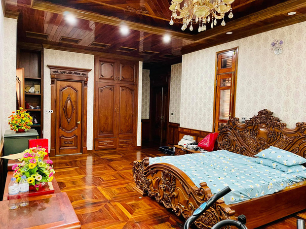 Biệt thự bề thế của gia đình 9X Bắc Ninh: Diện tích 400m2 với 4 tầng, nội thất tinh xảo toàn gỗ nguyên khối nhập từ Lào-16