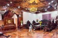 Biệt thự bề thế của gia đình 9X Bắc Ninh: Diện tích 400m2 với 4 tầng, nội thất tinh xảo toàn gỗ nguyên khối nhập từ Lào