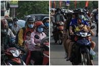 Kết thúc kỳ nghỉ lễ 30/4: Hàng nghìn phương tiện nối đuôi nhau, trẻ em ngủ gục trên xe máy theo cha mẹ quay trở lại Hà Nội