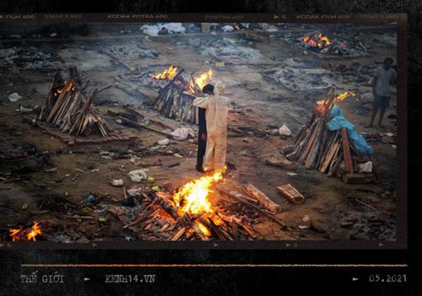Một ngày tại lò hỏa táng giữa địa ngục Covid Ấn Độ: Khi cái chết là sự thật duy nhất trong các lò hỏa thiêu đang đỏ lửa ngày đêm-2