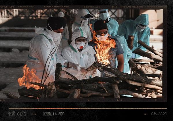 Một ngày tại lò hỏa táng giữa địa ngục Covid Ấn Độ: Khi cái chết là sự thật duy nhất trong các lò hỏa thiêu đang đỏ lửa ngày đêm-9