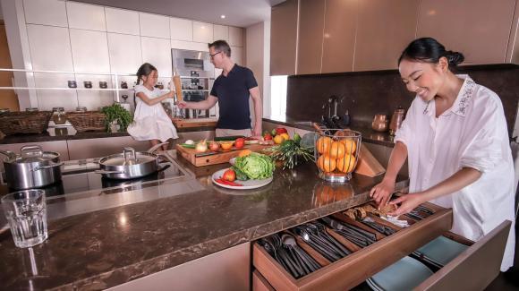 Không gian bếp sang trọng, tiện nghi như nhà hàng của ca sĩ Đoan Trang-1