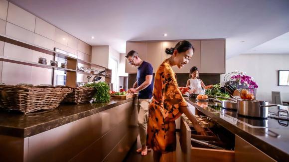 Không gian bếp sang trọng, tiện nghi như nhà hàng của ca sĩ Đoan Trang-5