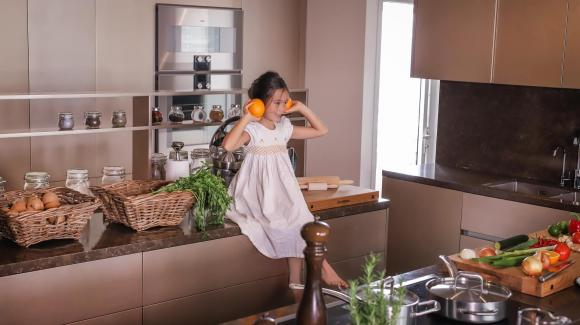 Không gian bếp sang trọng, tiện nghi như nhà hàng của ca sĩ Đoan Trang-6