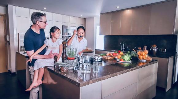 Không gian bếp sang trọng, tiện nghi như nhà hàng của ca sĩ Đoan Trang-7