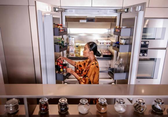 Không gian bếp sang trọng, tiện nghi như nhà hàng của ca sĩ Đoan Trang-14