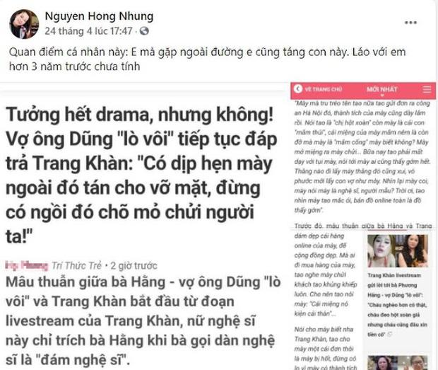 Vợ Xuân Bắc liên tục đăng đàn cà khịa Trang Trần, cựu siêu mẫu đáp trả cực gắt còn tuyên bố sẵn sàng tay đôi-1