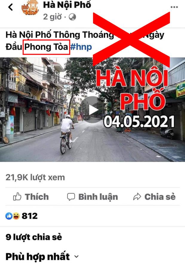 Chia sẻ thông tin Thủ đô bị phong toả ngày 4/5/2021, Duy Nến - chủ nhân kênh Hà Nội Phố bị phản đối dữ dội vì đưa nội dung sai lệch-1