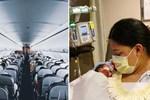 Hy hữu người phụ nữ không biết đang mang thai và sinh con khi đi máy bay