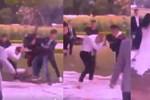 Xôn xao clip nhóm nam sinh lao vào đánh nhau trong buổi chụp ảnh kỷ yếu, bạn học nữ can ngăn không thành