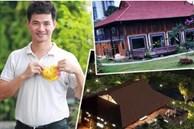 """Biệt phủ rộng thênh thang, kết cấu như resort của Xuân Bắc: Được xây bằng gỗ tự nhiên, nhìn toàn cảnh sân vườn thôi mà """"choáng"""""""