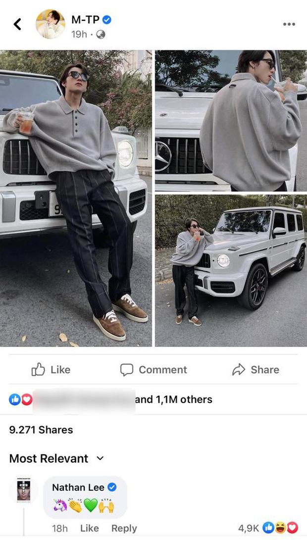 Bị netizen phát hiện bình luận dạo ảnh Sơn Tùng khoe xe chục tỷ, Nathan Lee ngượng chín mặt lên luôn Facebook thừa nhận 1 điều-1