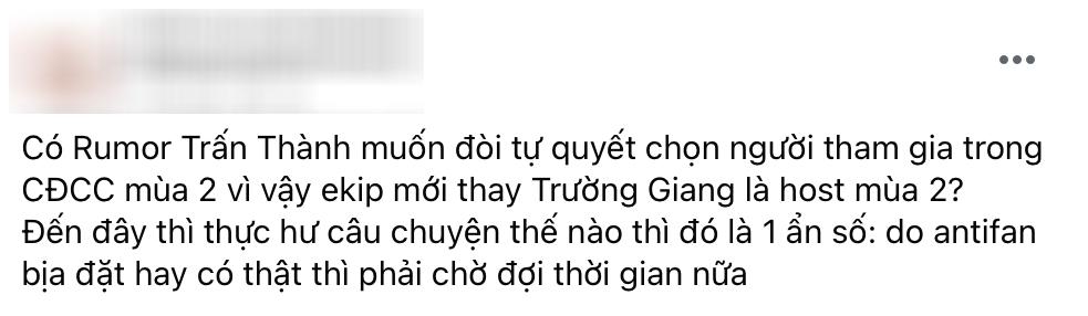 Rộ lý do khiến Trấn Thành bị loại khỏi đội hình Running Man Việt Nam-1