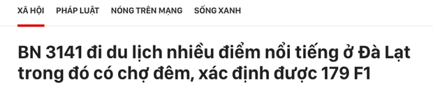 Vũ Khắc Tiệp vừa rời Nam Định đưa bố mẹ đến Đà Lạt, nơi đây truy vết khẩn cấp 179 ca F1-3
