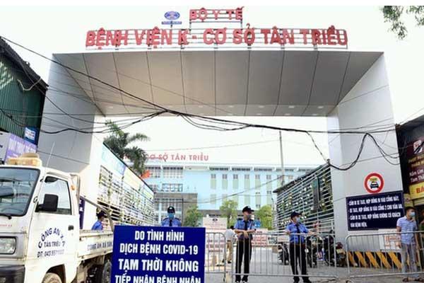 Hà Nội thêm 1 trường hợp dương tính SARS-CoV-2 ở BV K Tân Triều, là học sinh chẩn đoán bị ung thư-1
