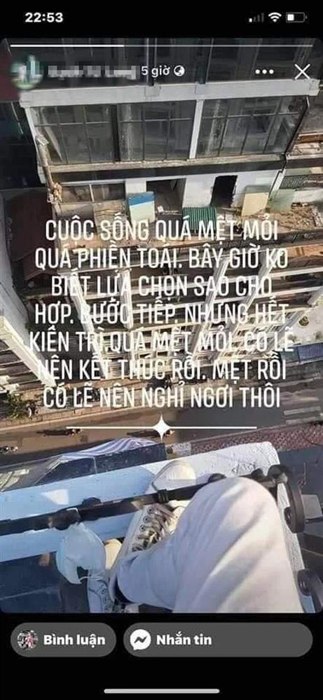 Xót xa dòng trạng thái cuối cùng của nam thanh niên nhảy từ tầng thượng khách sạn ở Hà Nội tử vong: Tôi không đủ kiên nhẫn bước tiếp cuộc sống này-3
