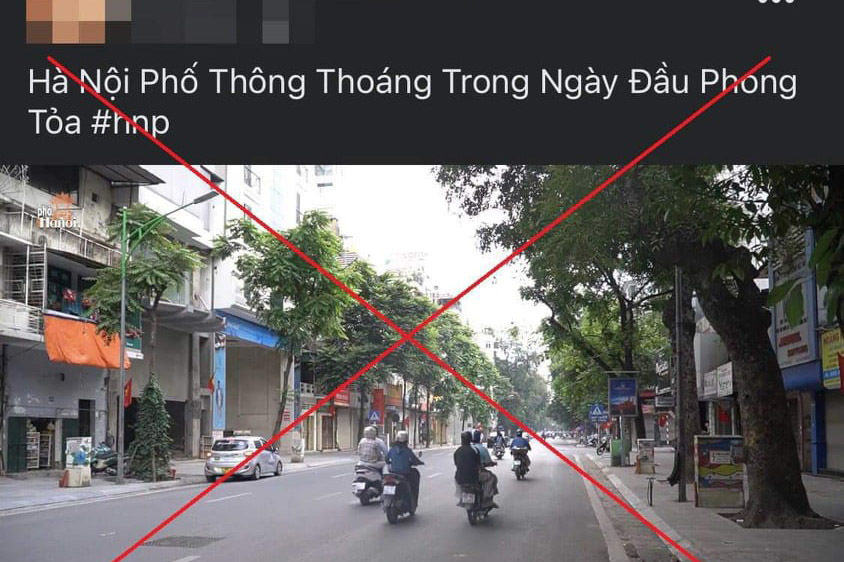 Tung tin sai sự thật về phong toả Hà Nội, một Youtuber bị xử phạt hơn 12 triệu-1
