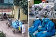 Hình ảnh xúc động trong ngày có tới 129 ca mắc COVID-19 mới: Nhân viên y tế kiệt sức ngủ gục tại chỗ, tình nguyện viên ngồi xe kéo ra 'tiền tuyến' chống dịch