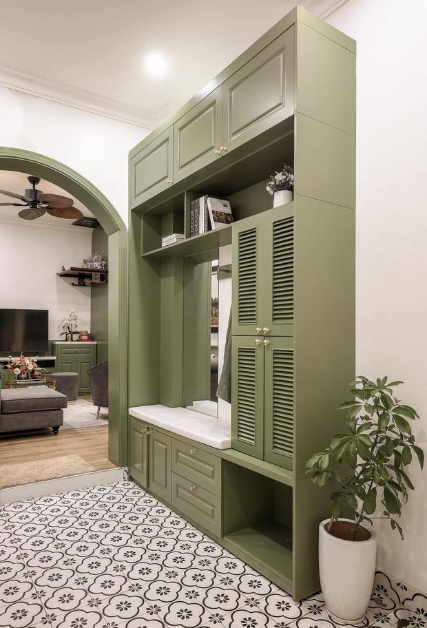 Vợ chồng mệnh Mộc xây nhà gần 2 tỷ trên mảnh đất cha ông để lại, ai cũng mê mẩn màu xanh olive phá cách-16