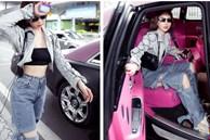 Vừa diện quần jeans 140 triệu, Ngọc Trinh đã vội 'quay xe' với kiểu quần độc dị, soi giá lại rẻ giật mình