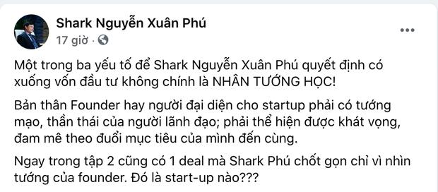 Trước tranh cãi rót vốn cho nữ CEO xinh đẹp, phía Shark Phú lên tiếng: Nhân tướng học là 1 trong 3 yếu tố quyết định-2