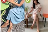 4 kiểu giày dép cứ mix với váy là hỏng cả set đồ, vóc dáng bị dìm cực 'thảm'