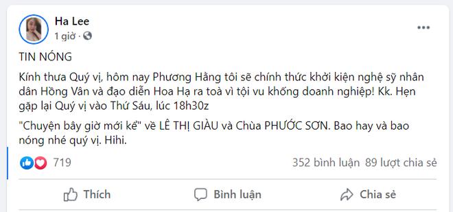 Bà Nguyễn Phương Hằng tuyên bố khởi kiện NSND Hồng Vân và NSƯT Hoa Hạ-3