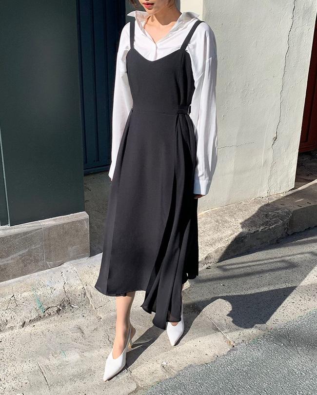 Để diện váy hai dây xịn đẹp level cao nhất, chị em hãy ngắm 12 set đồ này của gái Hàn-10