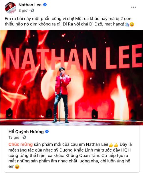 Hồ Quỳnh Hương ủng hộ Nathan Lee ca hát, nam ca sĩ đáp lại còn tranh thủ đá xéo ai đó thiểu não-1