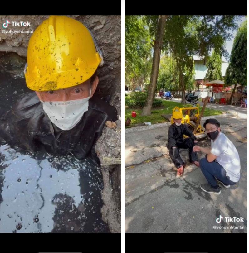 Người đàn ông làm nghề móc cống hơn 30 năm tại Sài Gòn bất ngờ nói một câu về thói quen xấu của rất nhiều người, khiến ai xem xong cũng phải giật mình rồi bật khóc-1