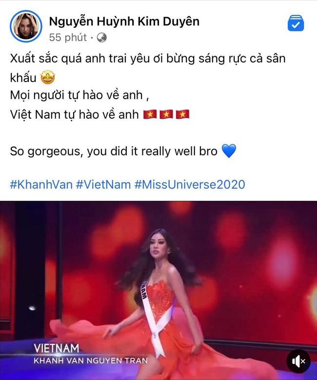 Khánh Vân có chia sẻ đầu tiên sau Bán kết Miss Universe 2020, nói 1 câu mà dàn sao Vbiz đồng loạt trầm trồ và động viên-4