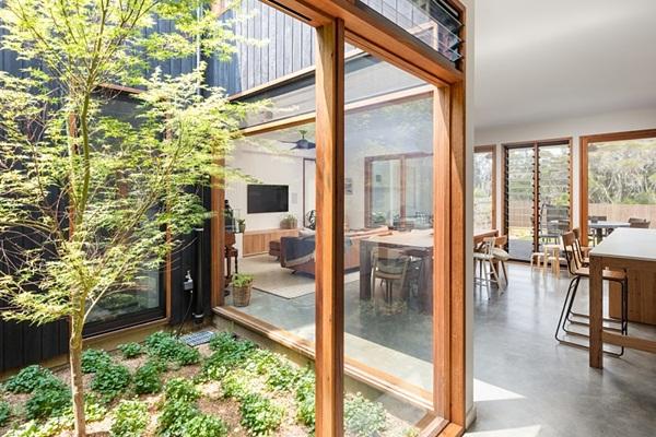 Thiết kế giếng trời cho biệt thự 74m2, kiến trúc hiện đại tự nhiên đến mọi ngóc ngách-5