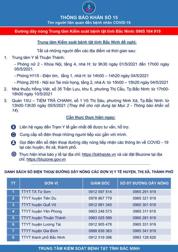 Hỏa tốc giãn cách xã hội toàn huyện Yên Phong của Bắc Ninh từ 14 giờ ngày 15-5-2
