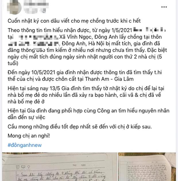 Chị họ mất tích rồi qua đời, để lại những dòng nhật ký đẫm nước mắt tố mẹ chồng tệ bạc, người hùng Nguyễn Ngọc Mạnh không giấu được sự xót xa-1