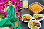 Đoan Trang rất hiếm khi vào bếp, sang Singapore định cư cùng chồng lại đảm đang bất ngờ, chăm chỉ nấu ănra dáng bà nội trợ
