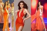 """Khánh Vân mặc váy """"Tái Sinh"""" tại chung kết Miss Universe 2020, netizen thắc mắc 1 điều về đôi giày"""