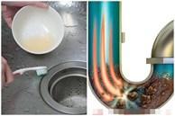 Đường ống nước của chậu rửa bị tắc và tích tụ dầu, mách bạn mẹo nhỏ để 'khử mùi và khử độc' hiệu quả lại không hề tốn kém