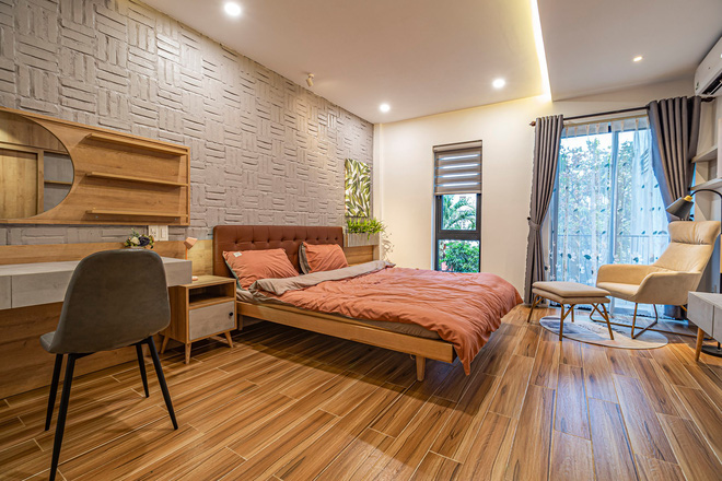 Có mảnh đất 75m2, vợ chồng Đà Nẵng xây nhà cực khéo: Trong nhà nghe tiếng nước chảy, ngoài vườn nghe tiếng chim hót-15