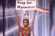 Hoa hậu Hoàn vũ Myanmar bị truy nã sau khi 'cầu cứu' tại Chung kết Hoa hậu Hoàn vũ 2020